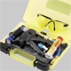 1687001591 - Professional tool set for injection of an UV contrast agent and identification of leakage in the refrigerant circuit. Injector gun, 1 x UV cartridge, UV leak detection lamp, service hose, and rapid coupling.