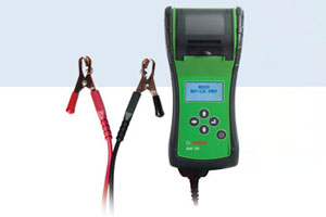 Hand-held Battery tester with printer for testing also brand new/unused batteries. Includes USB port