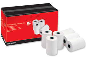 5 Printer rolls for use with internal printer on BEA 150 / 250 / 350 units
