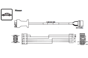 Nissan adapter cable (use only with 1684 463 651, 1684 463 466)
