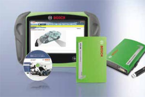 Tablet computer for use with Bosch KTS series