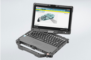 The rugged workshop laptop that can be used as a notebook or a tablet.