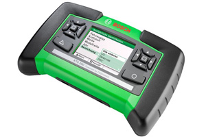 Handheld ECU Diagnostic tester. Lightweight, compact embedded tool with 3.5 inch colour display using ESI[Tronic] software