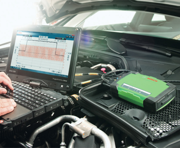 Versatile solution to worksop diagnostics with a lightweight toughbook